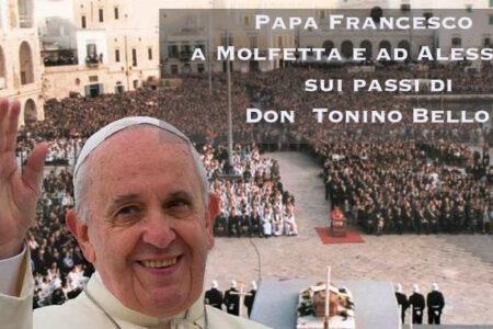 Annuncio della Visita del Santo Padre ad Alessano emesso dalla Diocesi di Ugento Santa Maria di Leuca