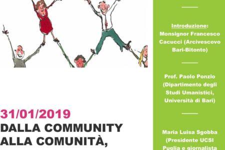 DALLA COMMUNITY  ALLA COMUNITÀ,  IL RUOLO  DELL'INFORMAZIONE